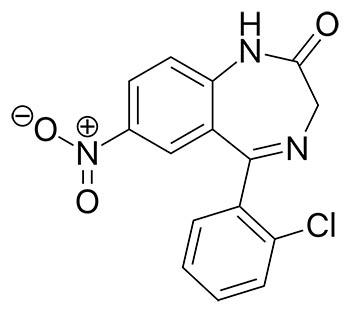 Formula química Clonazepam