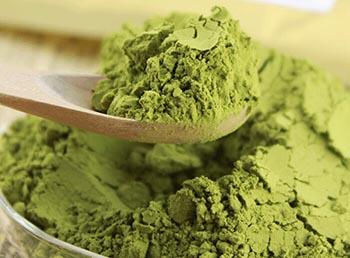 Té verde en polvo