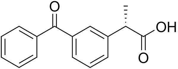 Fórmula química Dexketoprofeno