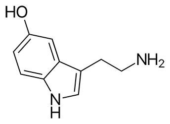 Formula química de la serotonina