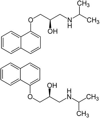 Composición química del Propranolol